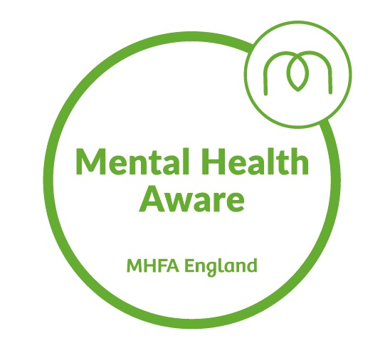 mental health aware badge from Mental Health First Aid England